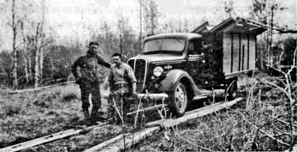 Jacobs' Truck on Corduroy near Stoney Lake