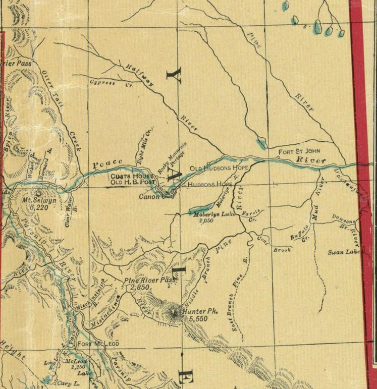 1913 Map of the Peace Region