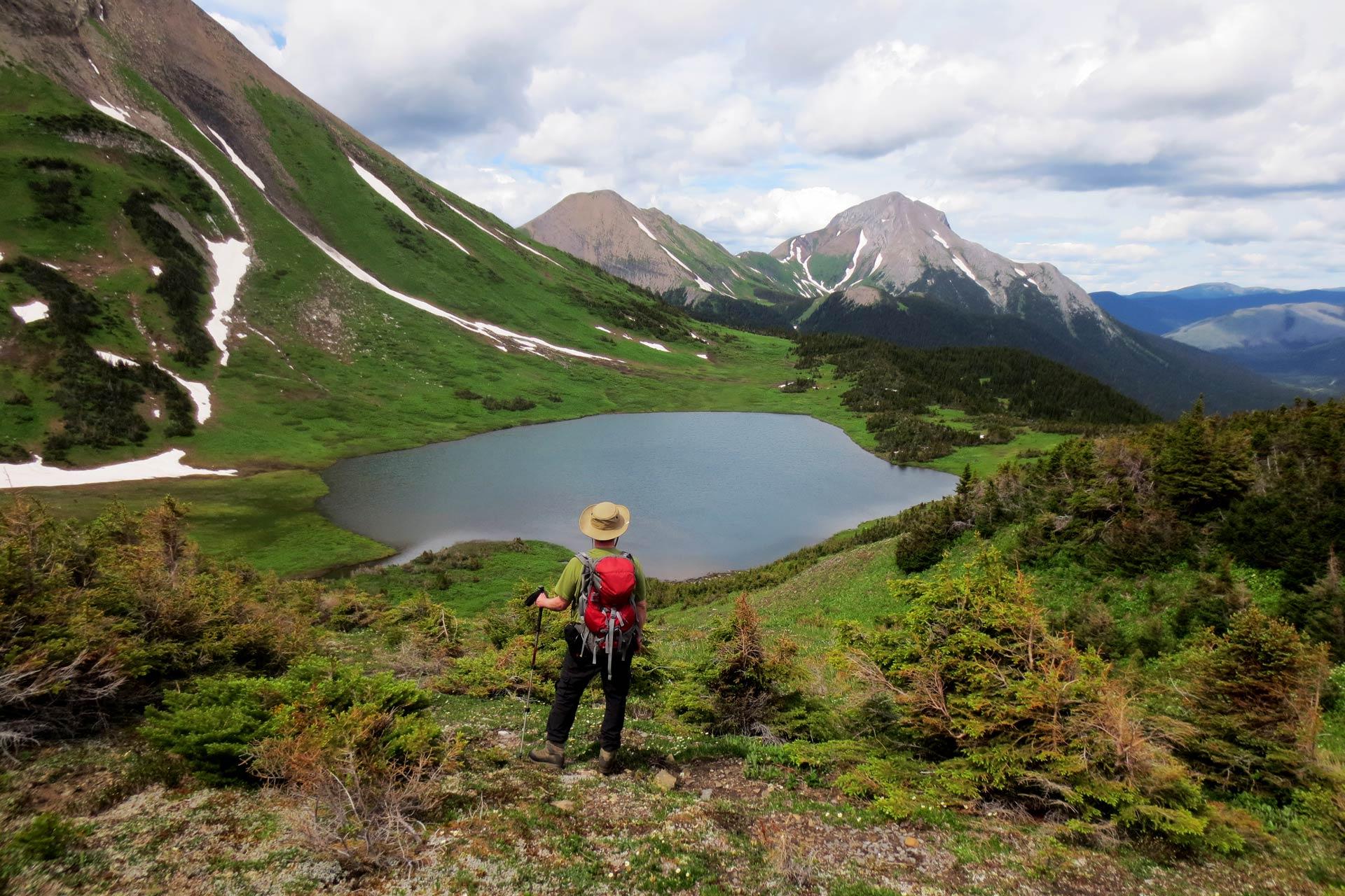 Kevin Sharman at Windfall Lake